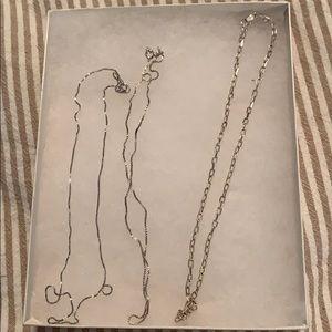 Plain silver necklace chains